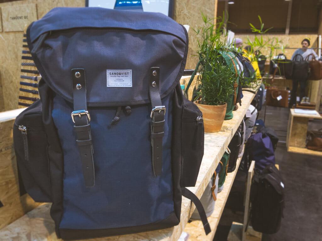 Blue and grey lars goran backpack sandquist
