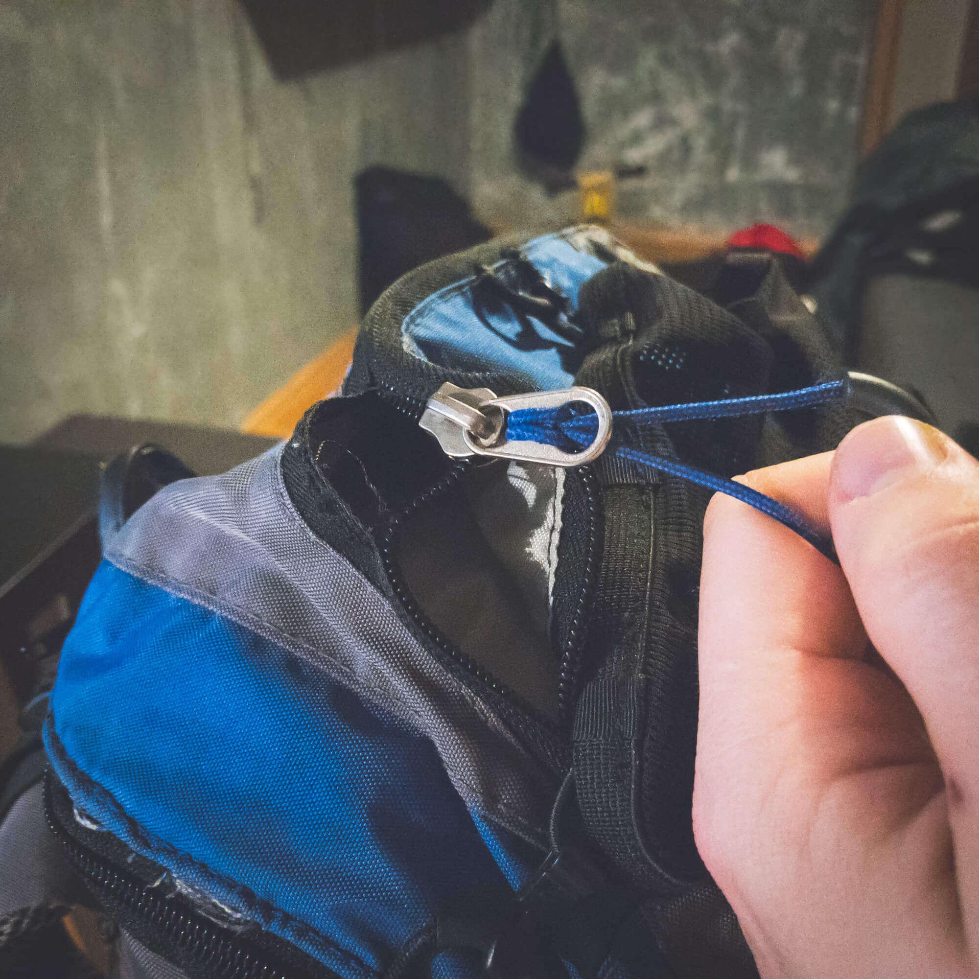 Broken zipper on Husky backpack