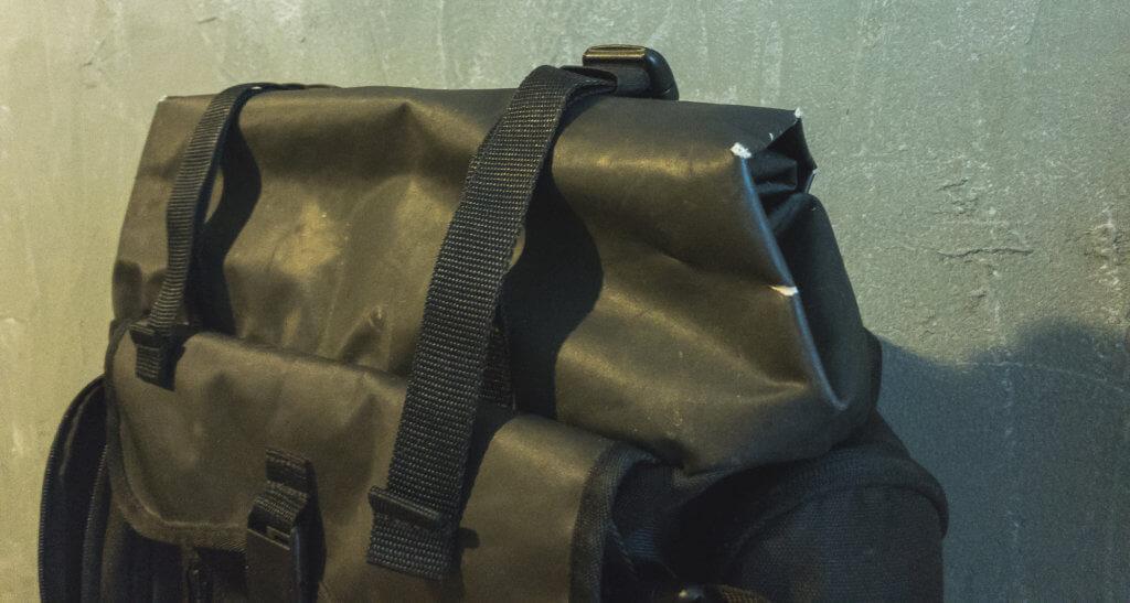 Vans backpack damaged opening
